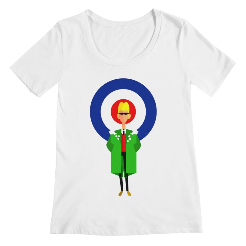 I Am The Mod Women's Scoopneck by drawgood's Shop