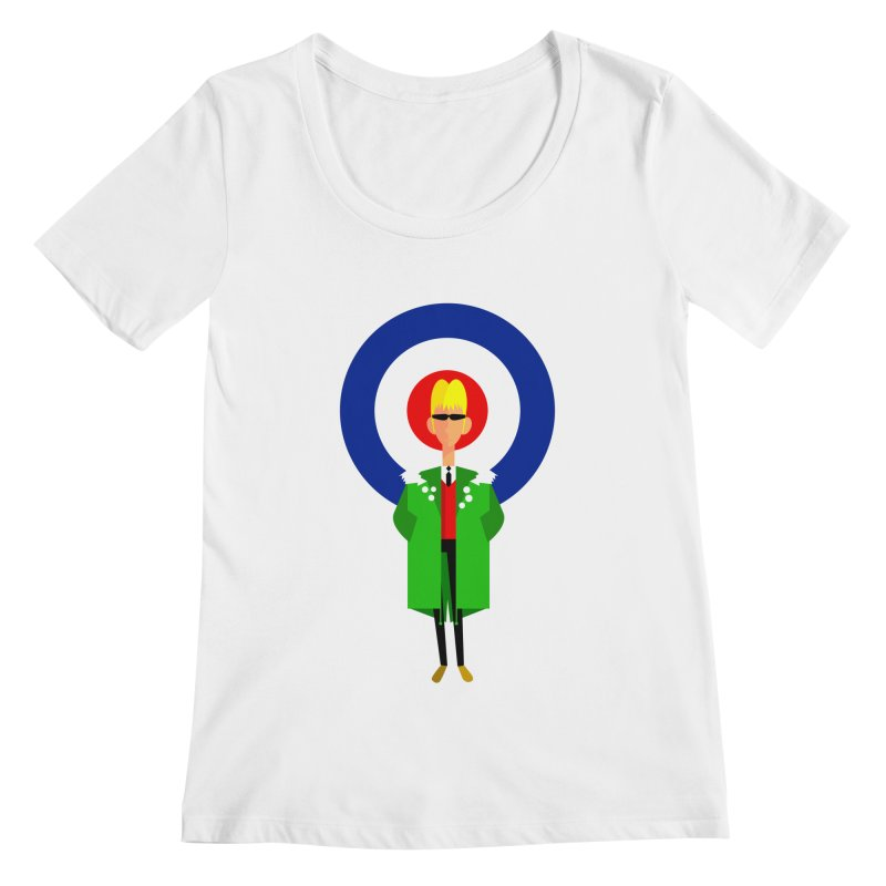 I Am The Mod Women's Scoopneck by drawgood's Shop