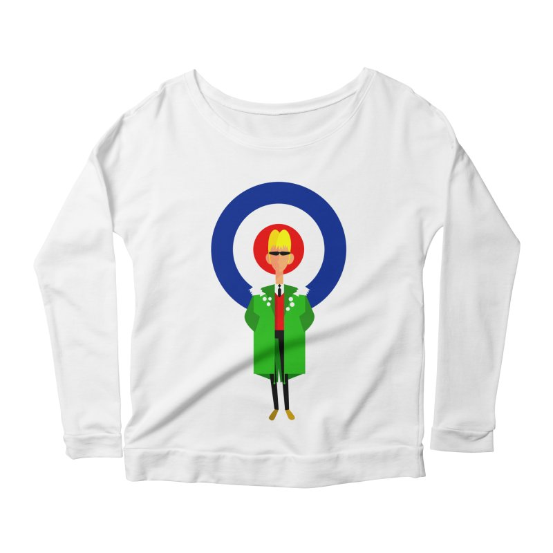 I Am The Mod Women's Longsleeve Scoopneck  by Studio Drawgood