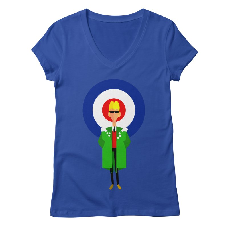 I Am The Mod Women's V-Neck by Studio Drawgood