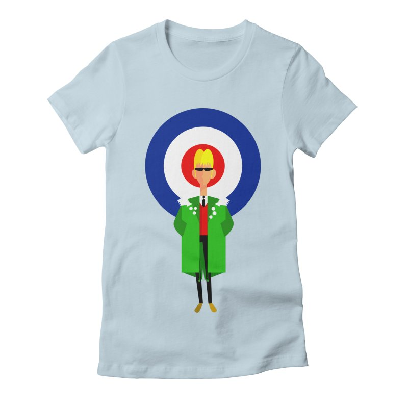 I Am The Mod Women's Fitted T-Shirt by drawgood's Shop