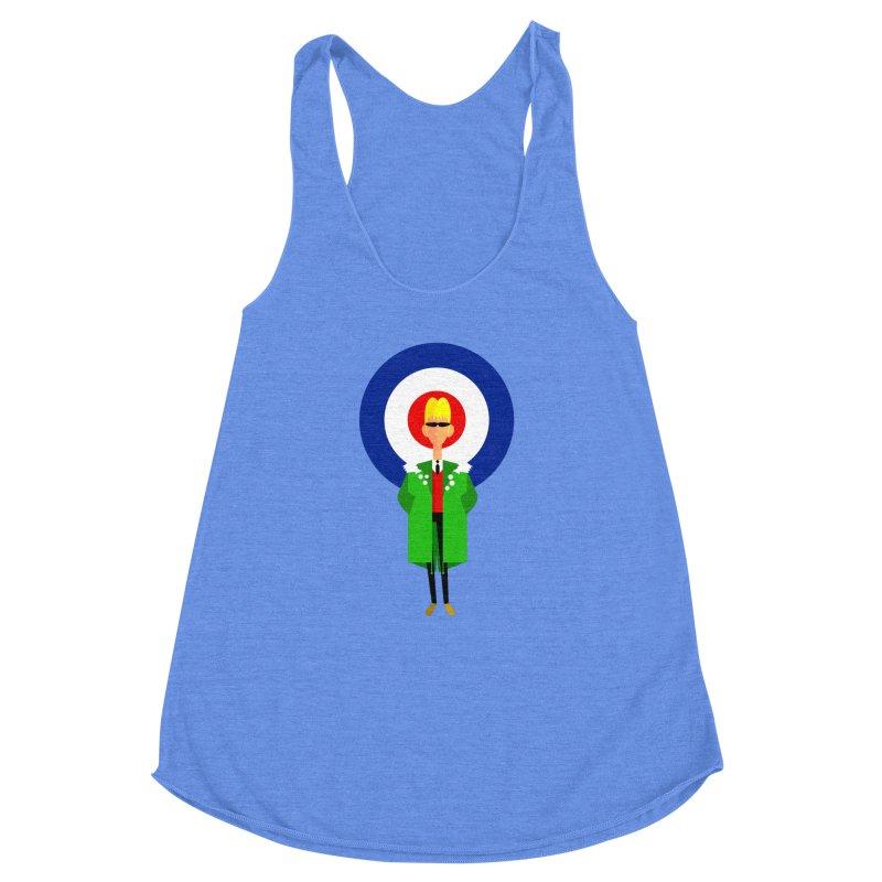 I Am The Mod Women's Racerback Triblend Tank by drawgood's Shop