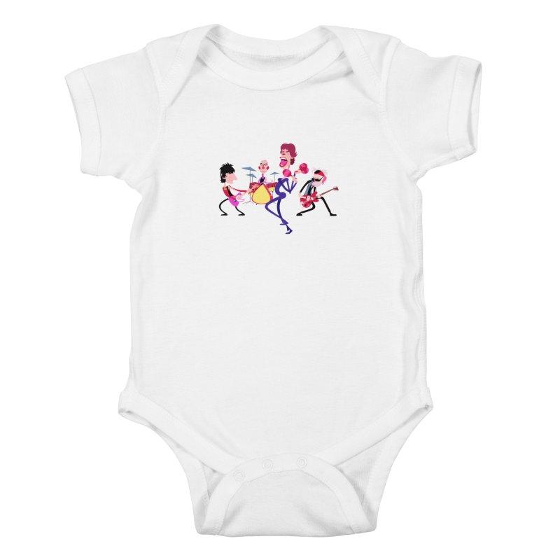 Stoned Again Kids Baby Bodysuit by Studio Drawgood