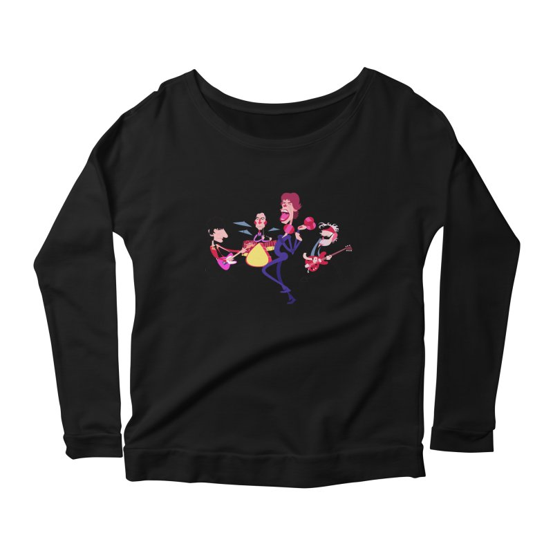 Stoned Again Women's Longsleeve Scoopneck  by Studio Drawgood