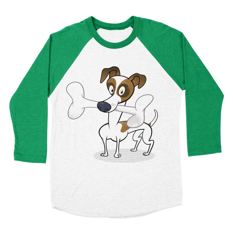 Mr Jack Russell Men's Baseball Triblend T-Shirt by Studio Drawgood