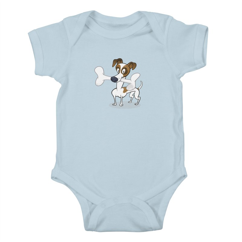 Mr Jack Russell Kids Baby Bodysuit by Studio Drawgood