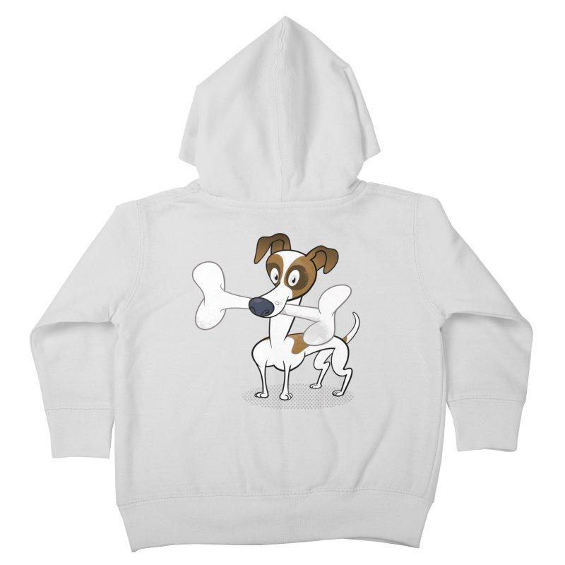 Mr Jack Russell Kids Toddler Zip-Up Hoody by Studio Drawgood