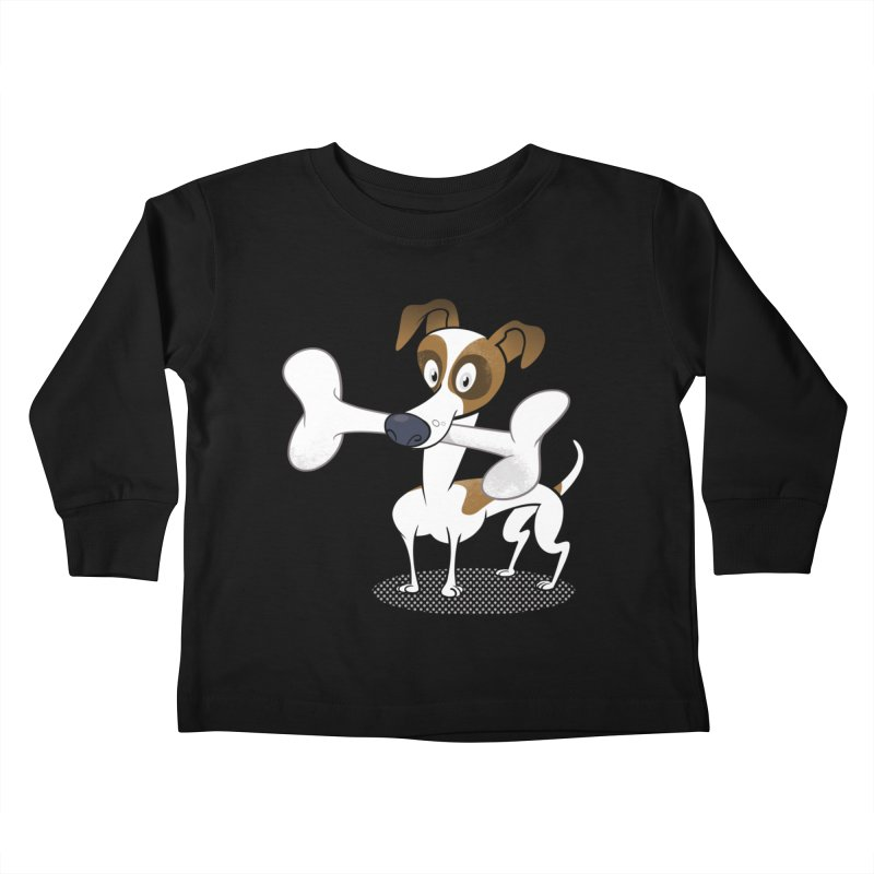 Mr Jack Russell Kids Toddler Longsleeve T-Shirt by Studio Drawgood