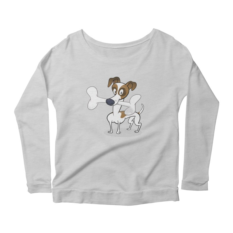 Mr Jack Russell Women's Longsleeve Scoopneck  by Studio Drawgood