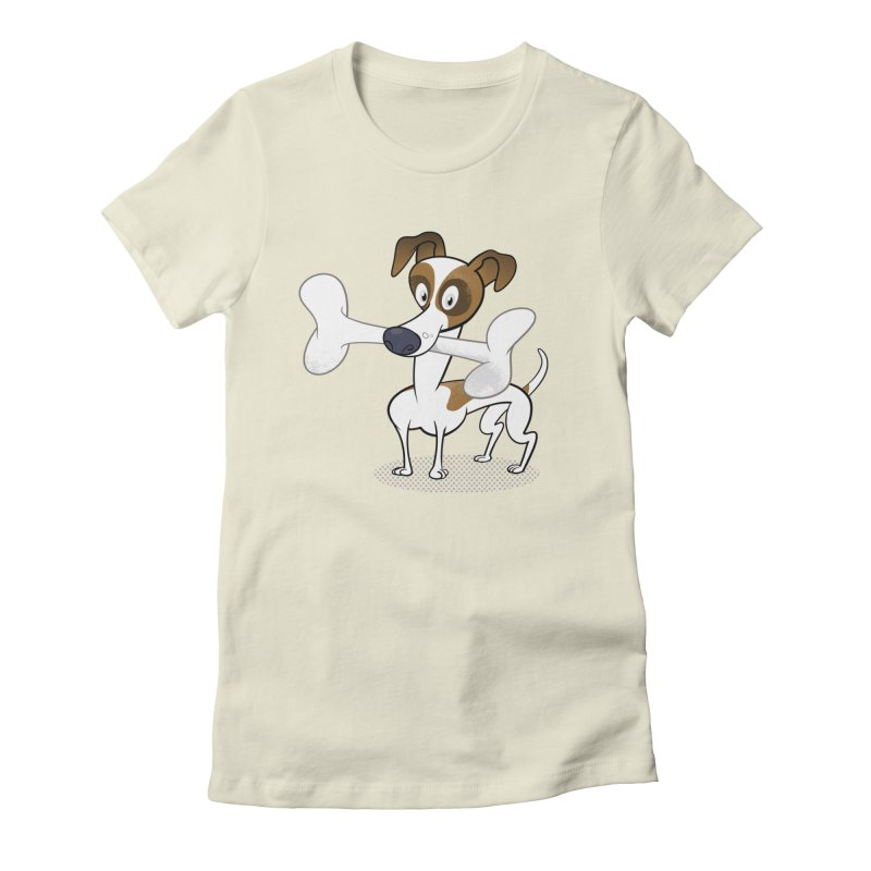 Mr Jack Russell Women's Fitted T-Shirt by Studio Drawgood