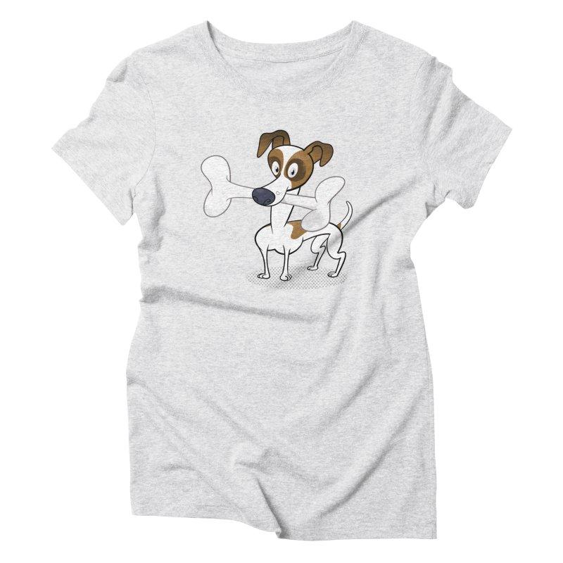 Mr Jack Russell Women's Triblend T-Shirt by Studio Drawgood