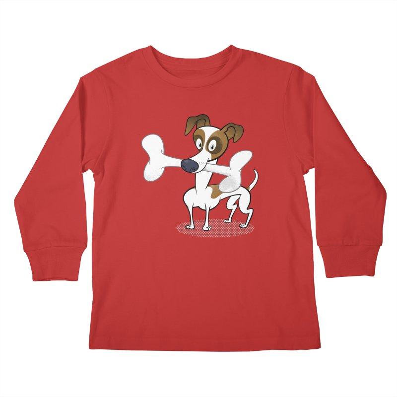 Mr Jack Russell Kids Longsleeve T-Shirt by Studio Drawgood