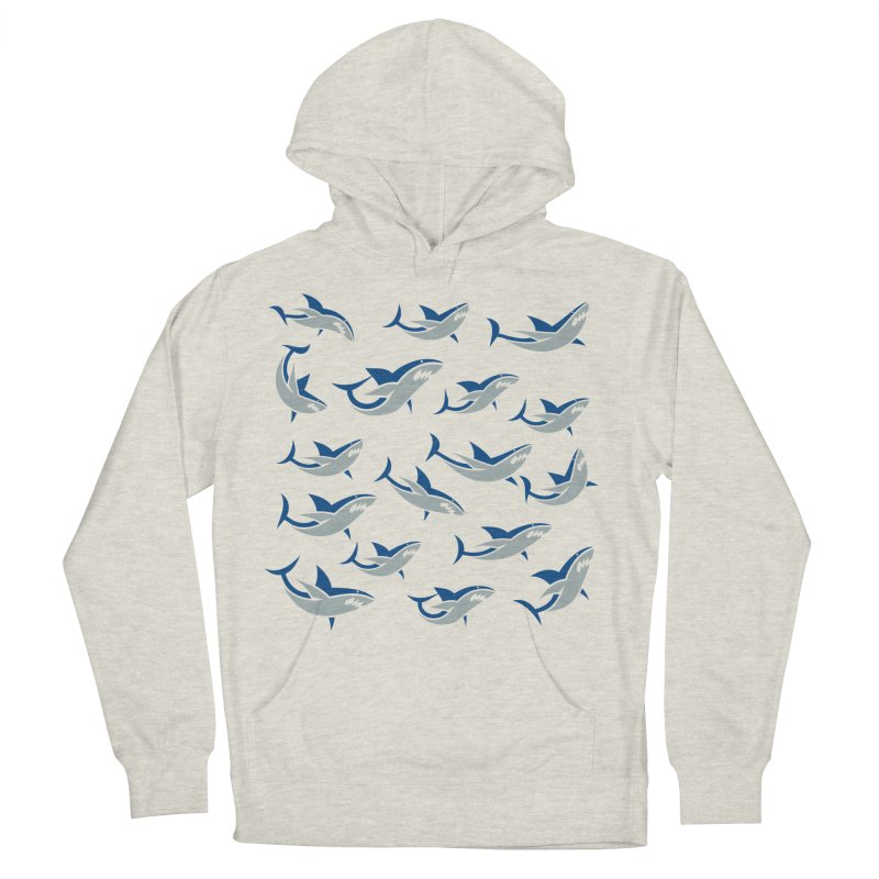 Shiver of Sharks Women's Pullover Hoody by Studio Drawgood