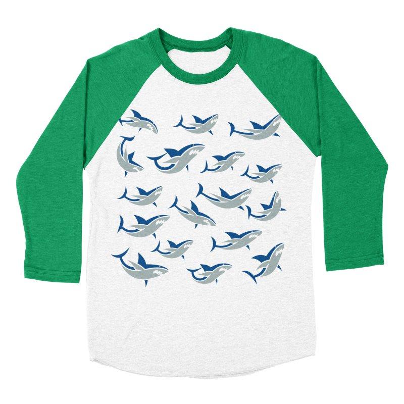 Shiver of Sharks Women's Baseball Triblend T-Shirt by Studio Drawgood