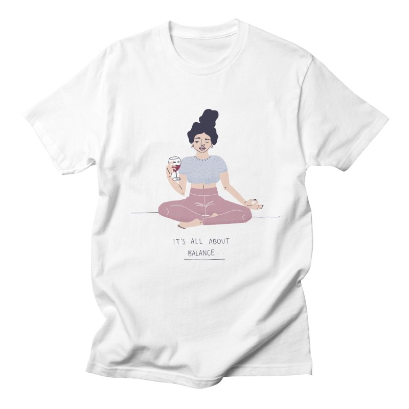 it's all about balance... Women's Regular Unisex T-Shirt by Drawing Vicariously