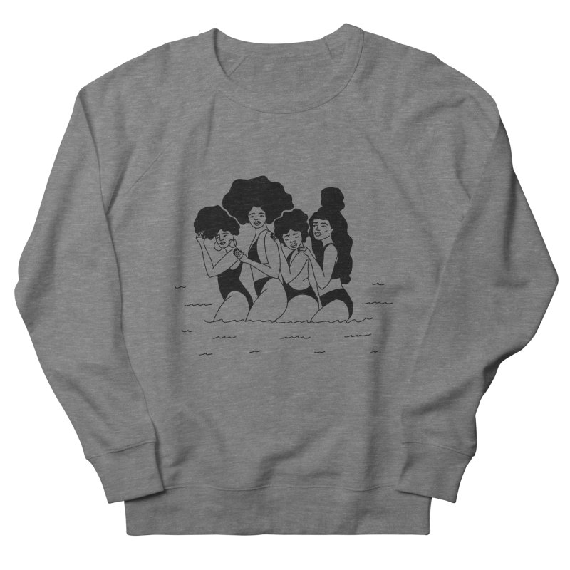 girls in the ocean Women's French Terry Sweatshirt by Drawing Vicariously