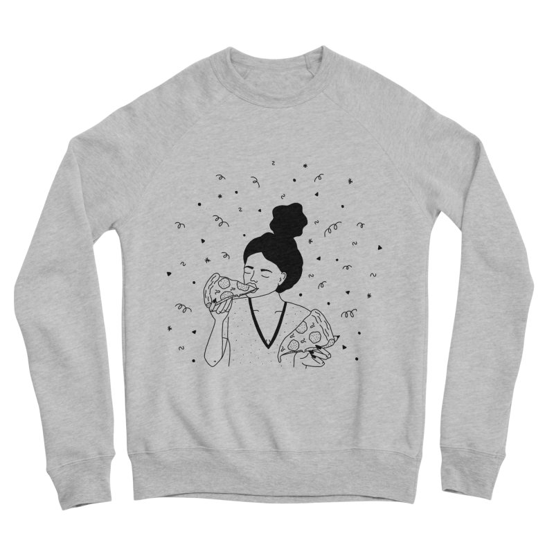 pizza party Women's Sweatshirt by Drawing Vicariously