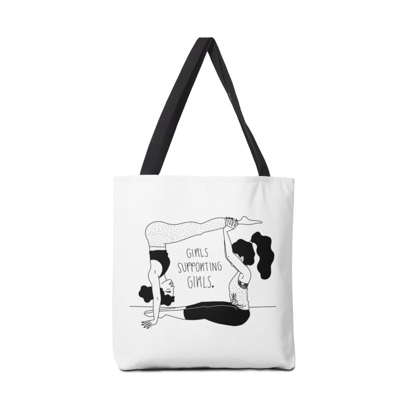 girls supporting girls in Tote Bag by Drawing Vicariously
