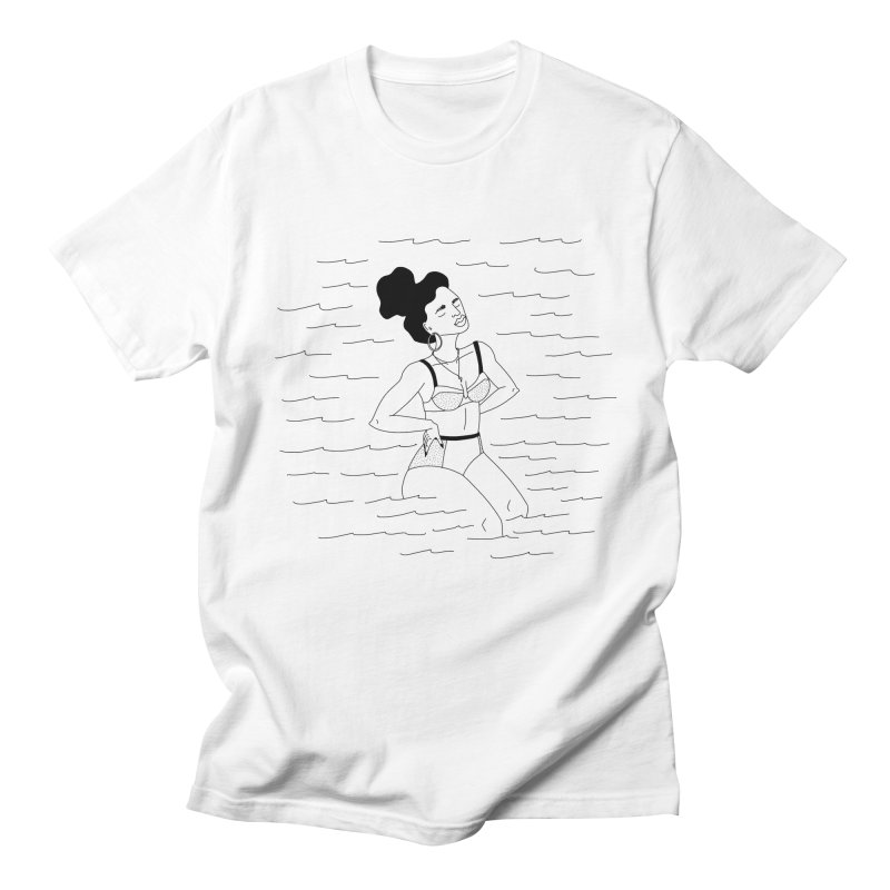 girl in the water Women's Regular Unisex T-Shirt by Drawing Vicariously