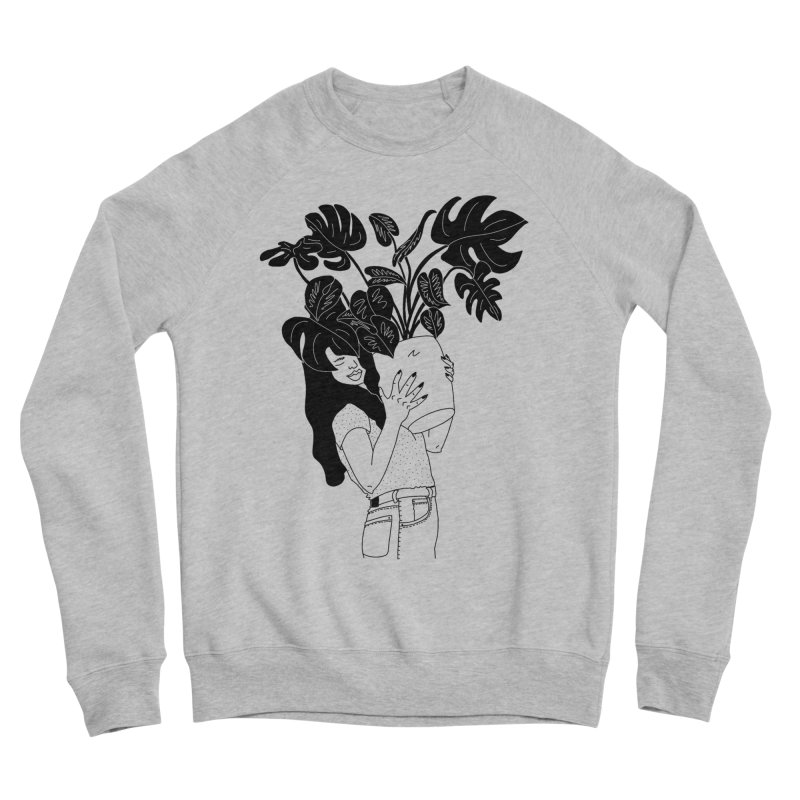 girl with monstera Women's Sweatshirt by Drawing Vicariously