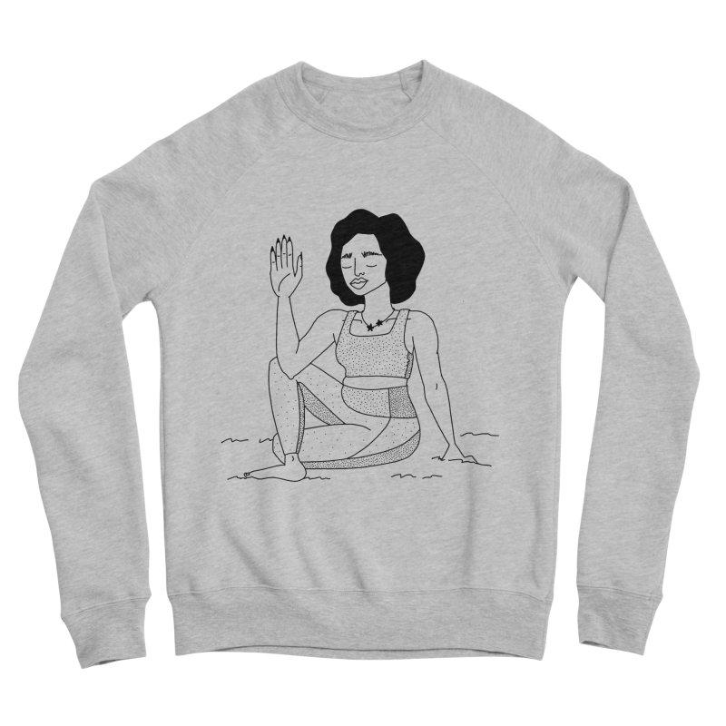 girl doing yoga Women's Sponge Fleece Sweatshirt by Drawing Vicariously