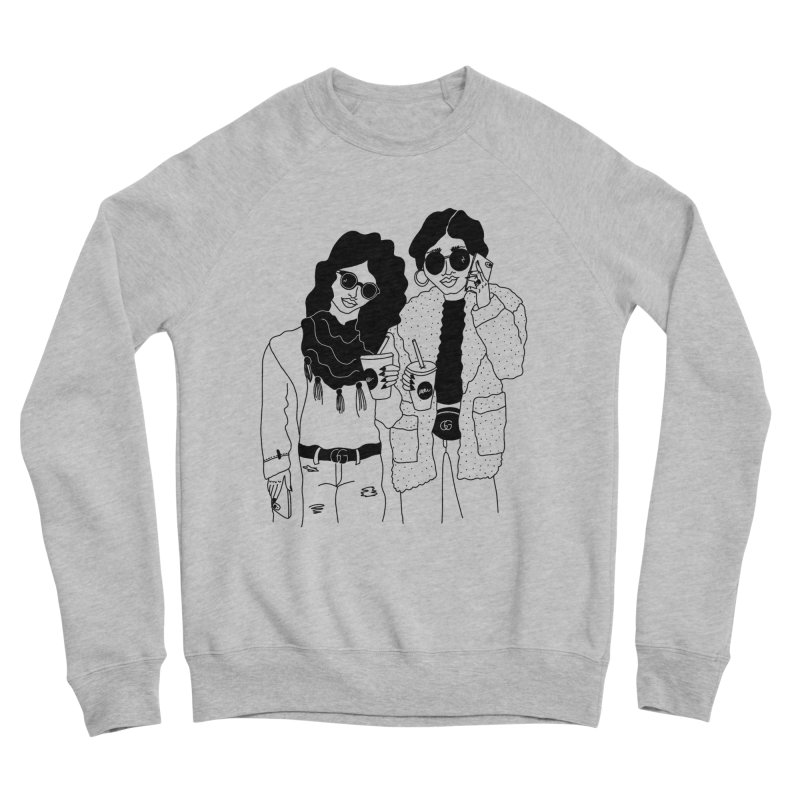 cool girls in Women's Sponge Fleece Sweatshirt Heather Grey by leeandracianci's Artist Shop