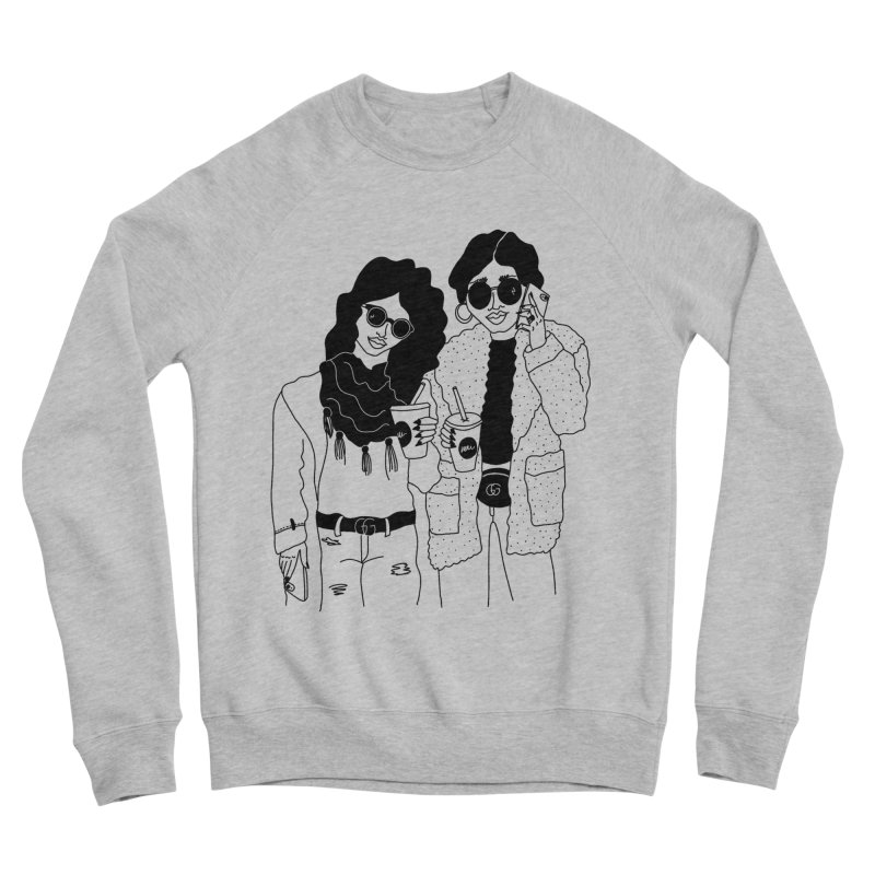 cool girls Women's Sweatshirt by Drawing Vicariously