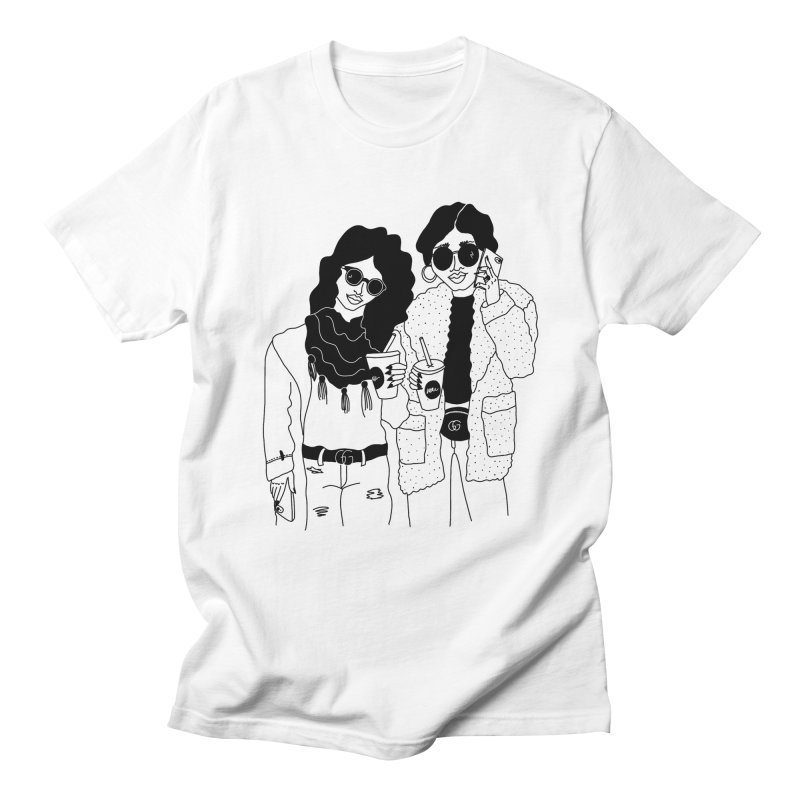 cool girls Women's Regular Unisex T-Shirt by Drawing Vicariously