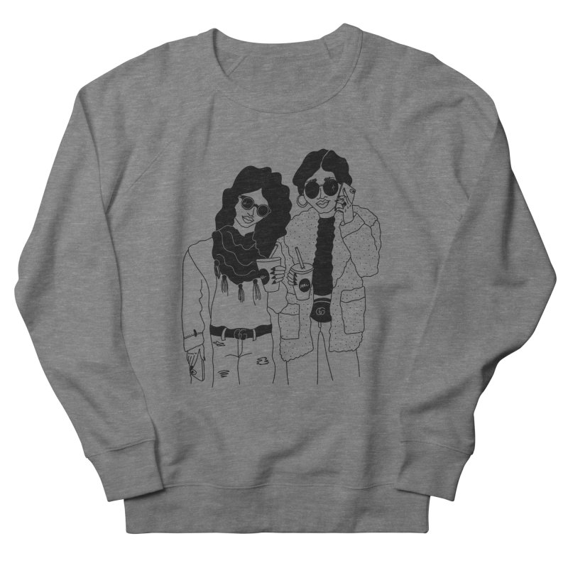 cool girls Women's French Terry Sweatshirt by Drawing Vicariously