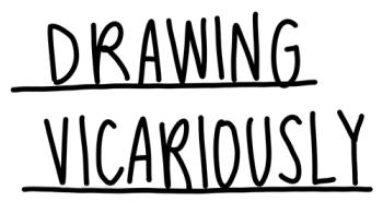 Drawing Vicariously Logo