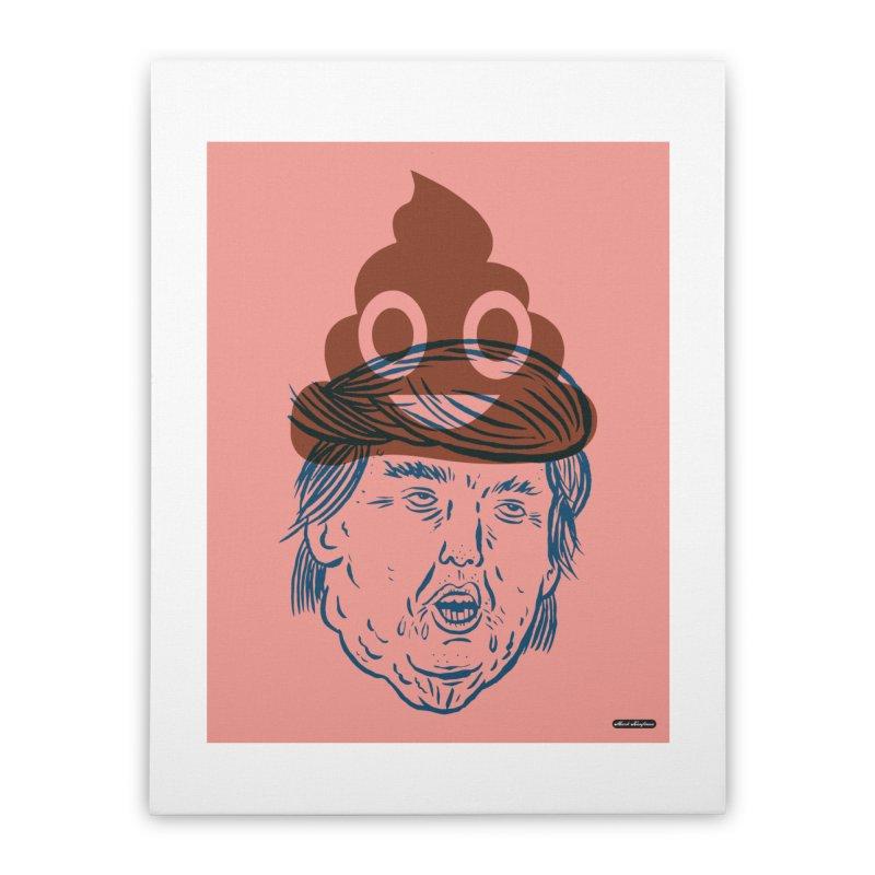 Trumpmoji Home Stretched Canvas by DRAWMARK