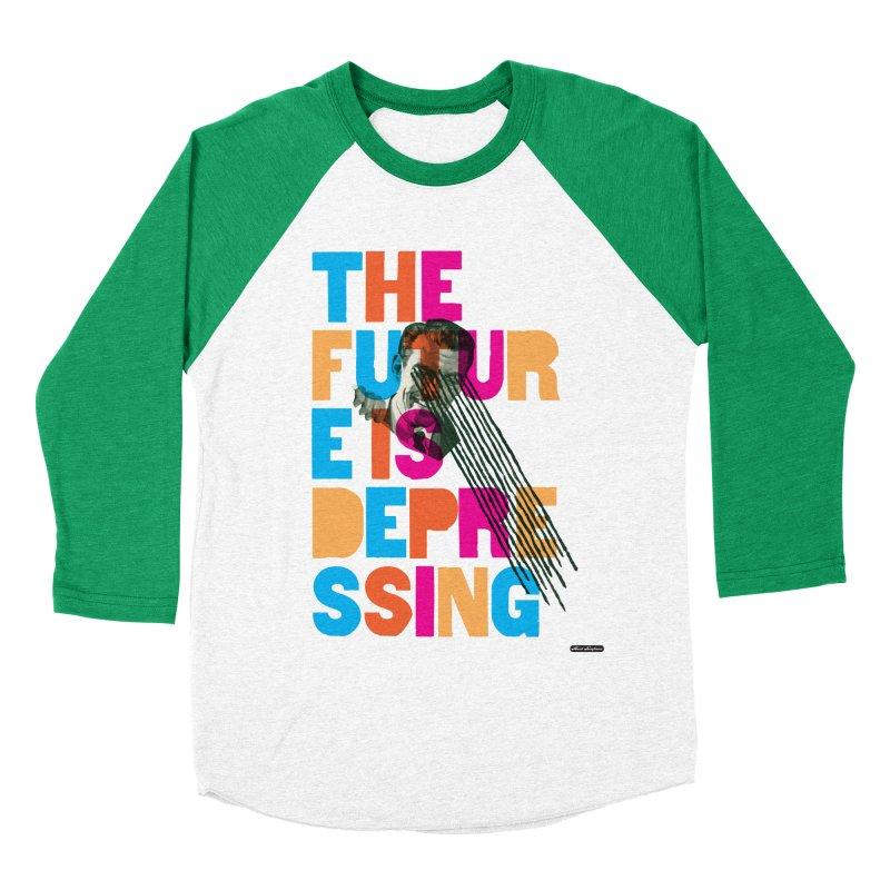 The Future is Depressing Women's Baseball Triblend Longsleeve T-Shirt by DRAWMARK