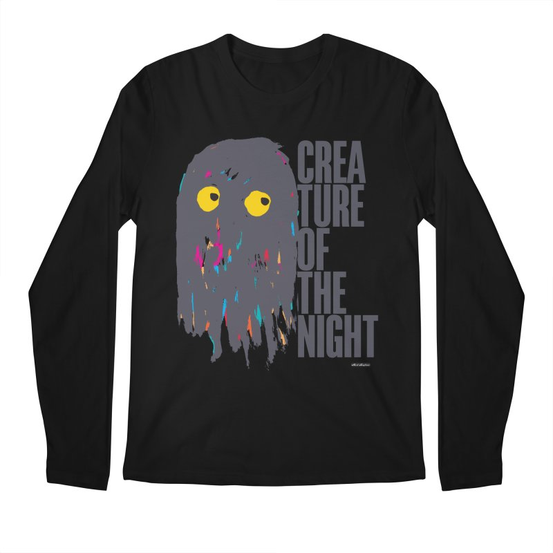 Creature of the Night Men's Longsleeve T-Shirt by DRAWMARK