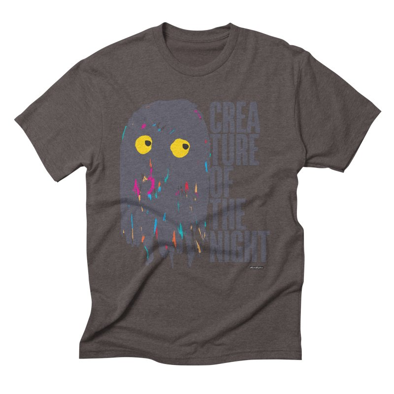 Creature of the Night Men's Triblend T-Shirt by DRAWMARK