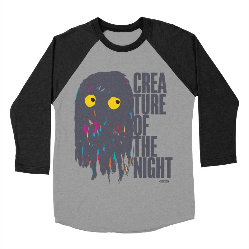 Creature of the Night Men's Baseball Triblend T-Shirt by DRAWMARK