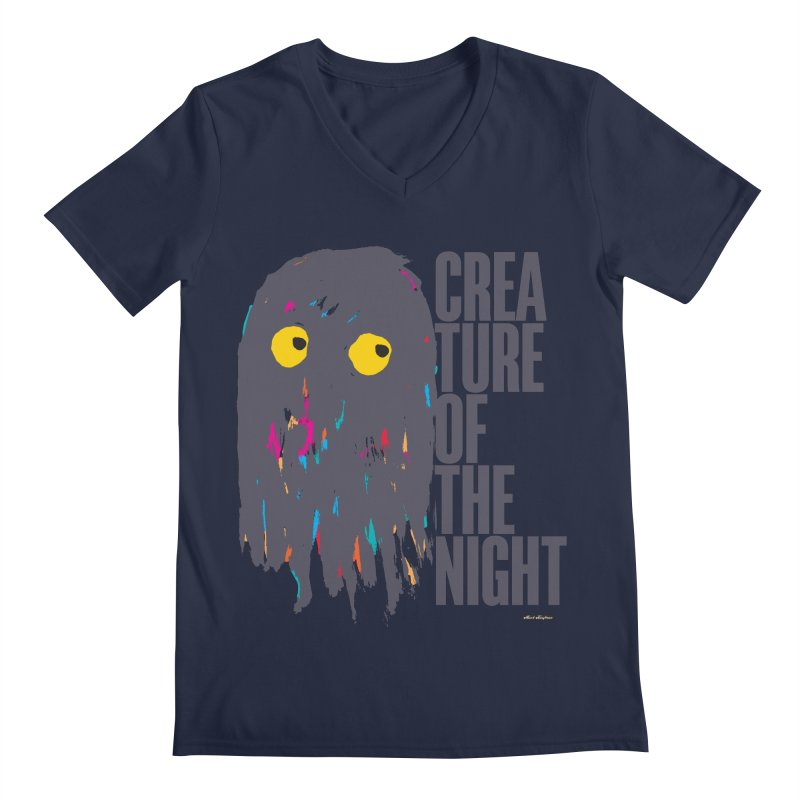 Creature of the Night Men's V-Neck by DRAWMARK