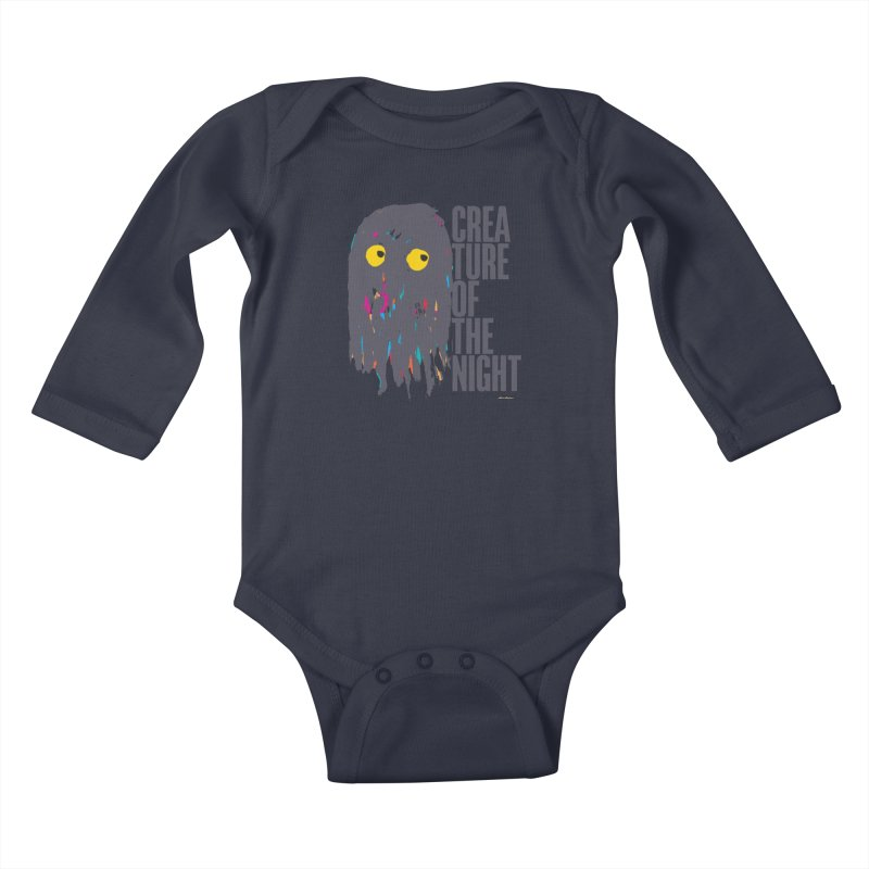 Creature of the Night Kids Baby Longsleeve Bodysuit by DRAWMARK