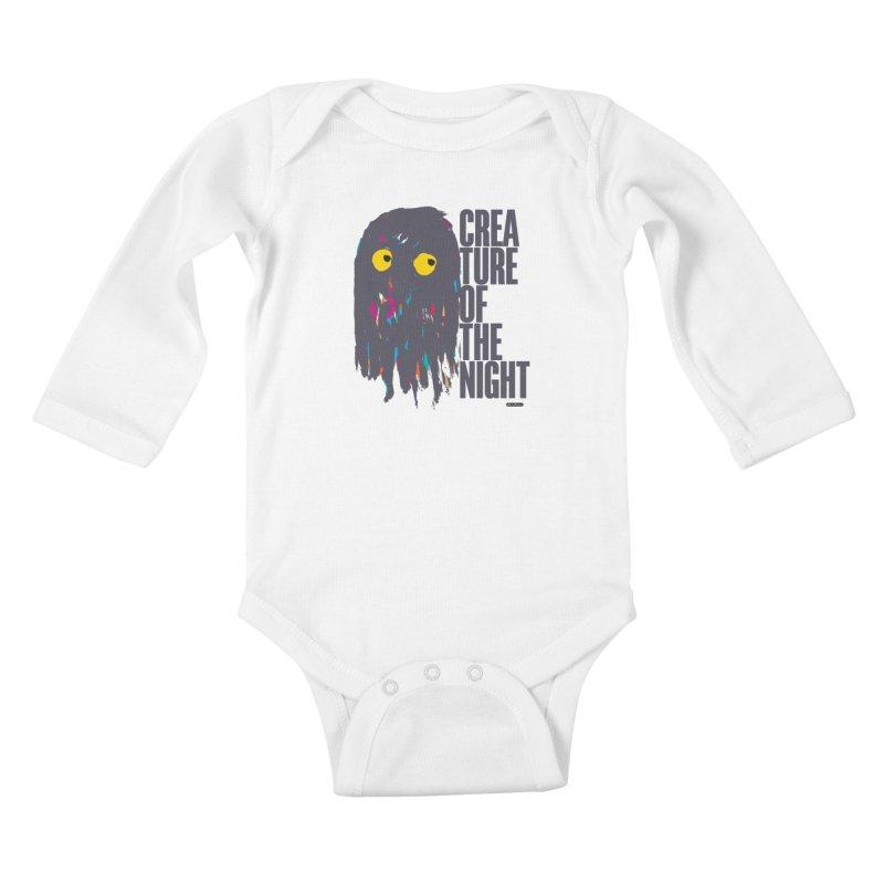 Creature of the Night Kids Baby Longsleeve Bodysuit by DRAWMARK