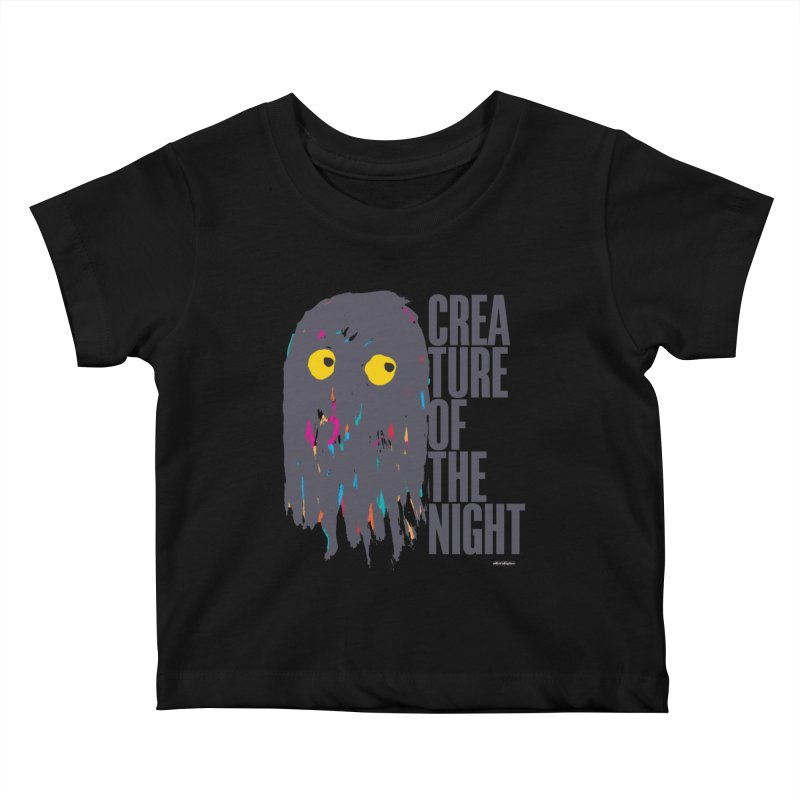 Creature of the Night Kids Baby T-Shirt by DRAWMARK