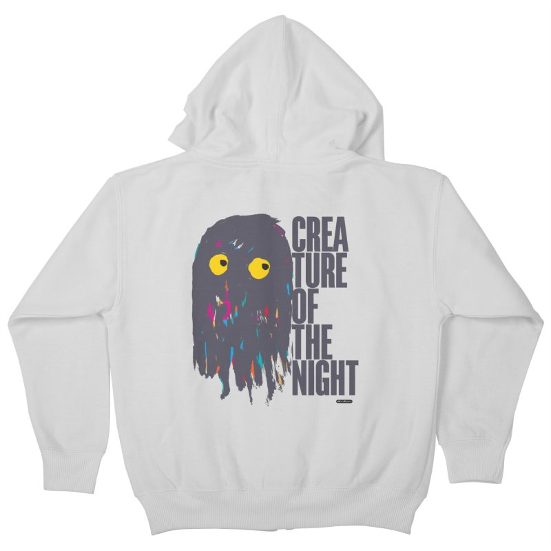 Creature of the Night Kids Zip-Up Hoody by DRAWMARK