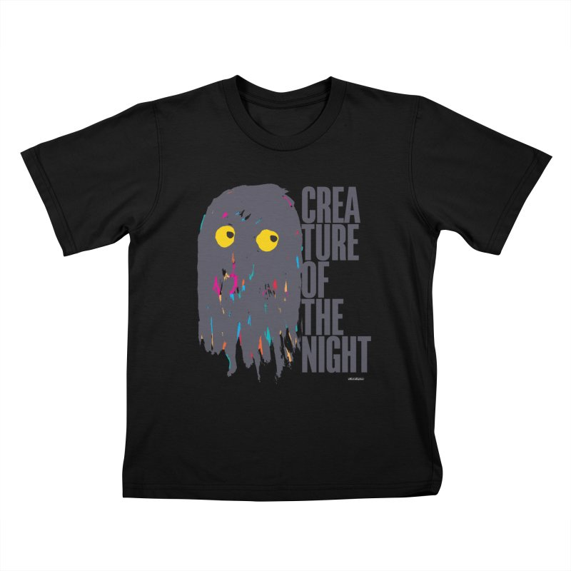 Creature of the Night Kids T-Shirt by DRAWMARK