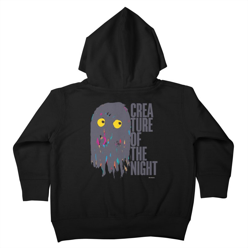 Creature of the Night Kids Toddler Zip-Up Hoody by DRAWMARK
