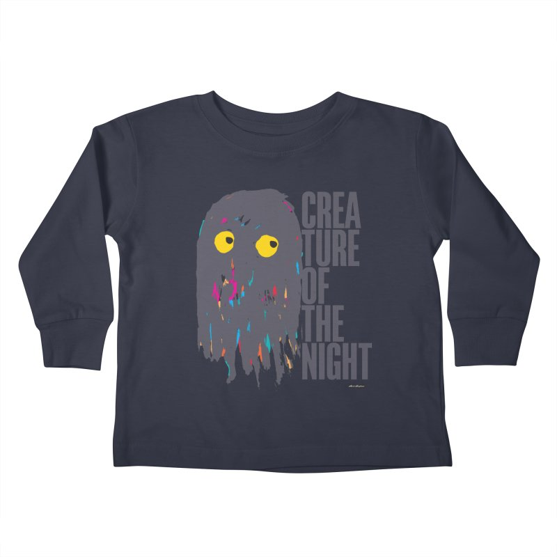 Creature of the Night Kids Toddler Longsleeve T-Shirt by DRAWMARK