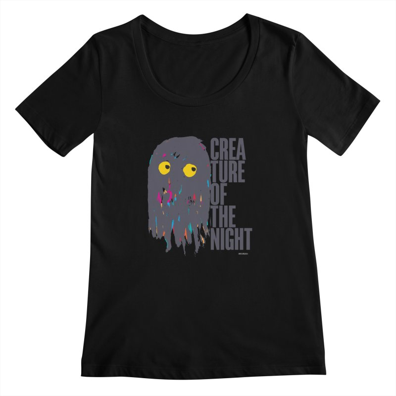 Creature of the Night Women's Scoopneck by DRAWMARK