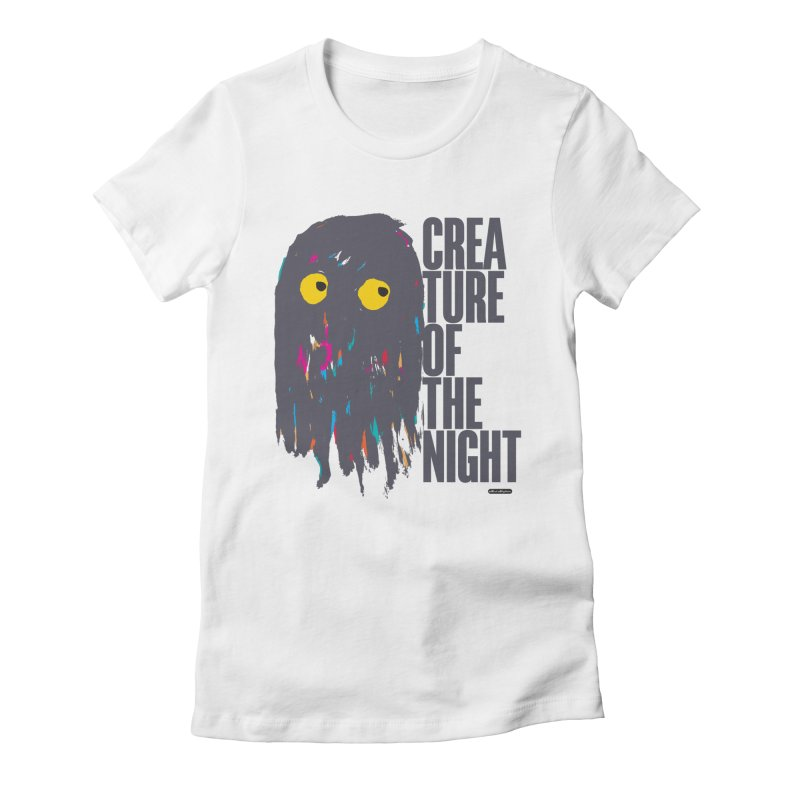 Creature of the Night Women's Fitted T-Shirt by DRAWMARK