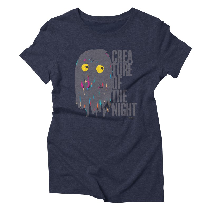 Creature of the Night Women's Triblend T-Shirt by DRAWMARK