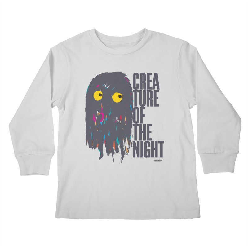 Creature of the Night Kids Longsleeve T-Shirt by DRAWMARK