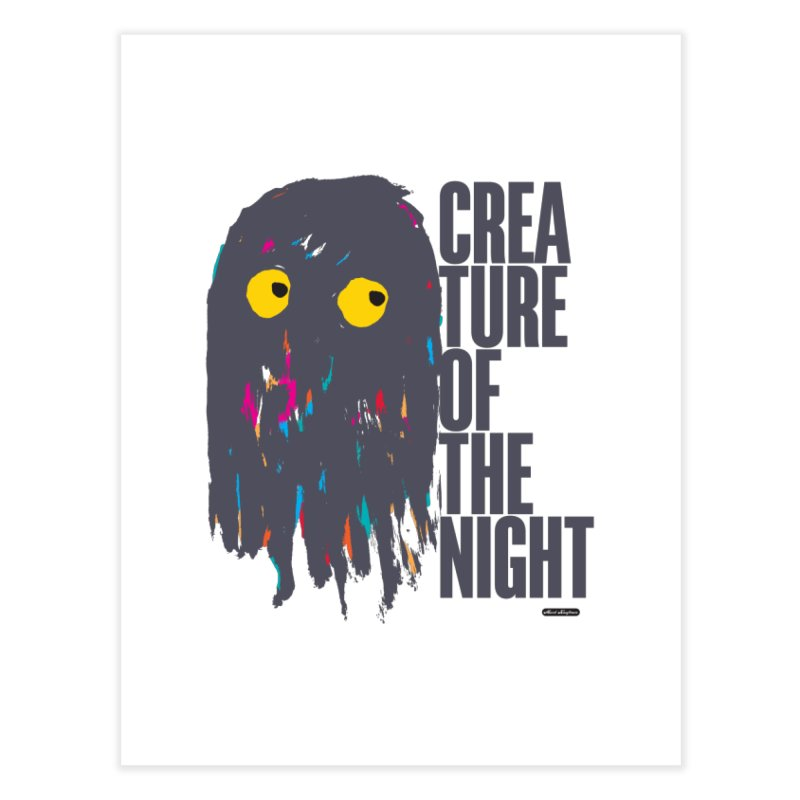 Creature of the Night Home Fine Art Print by DRAWMARK