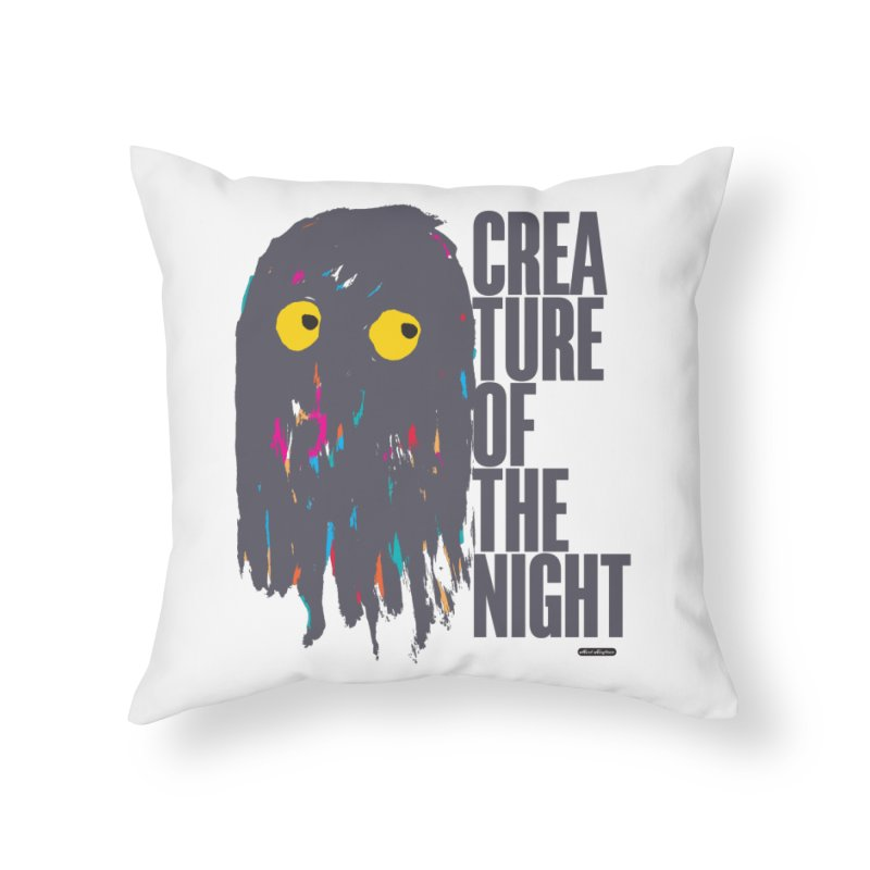 Creature of the Night Home Throw Pillow by DRAWMARK