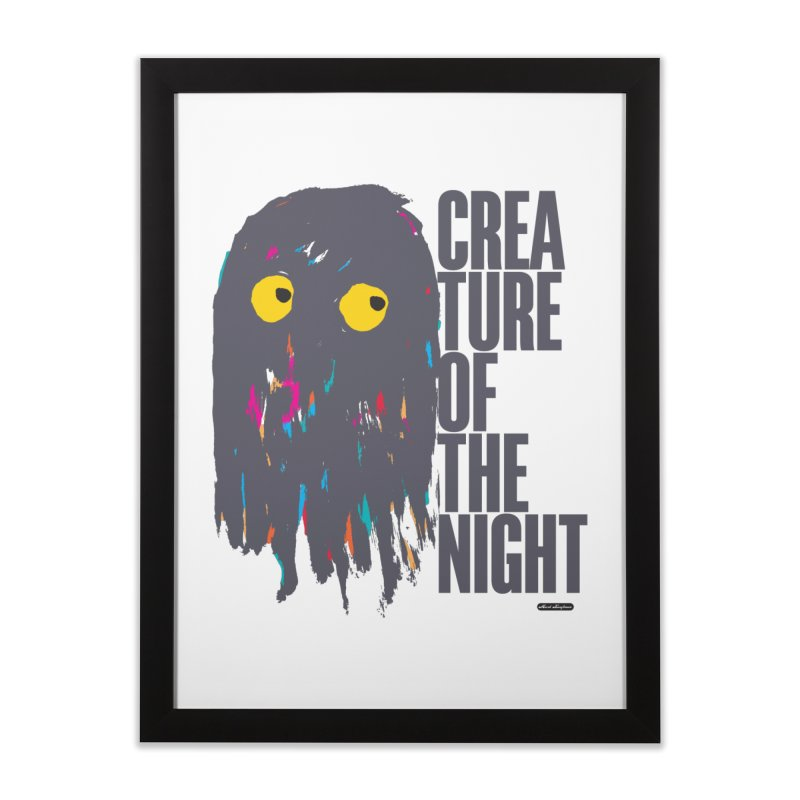 Creature of the Night Home Framed Fine Art Print by DRAWMARK